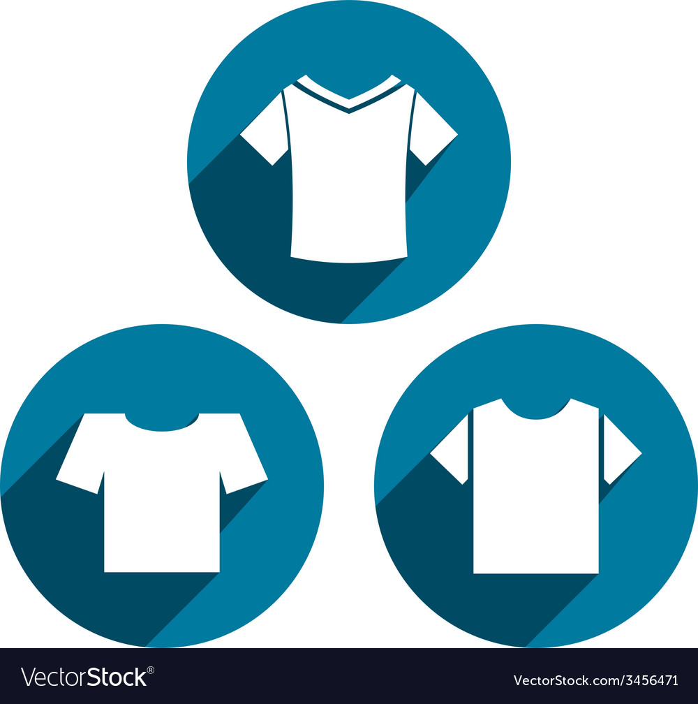 Man t-shirt icon set vector | Price: 1 Credit (USD $1)