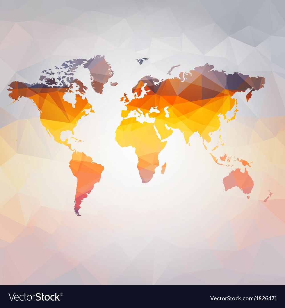 Modern concept of world map vector | Price: 1 Credit (USD $1)