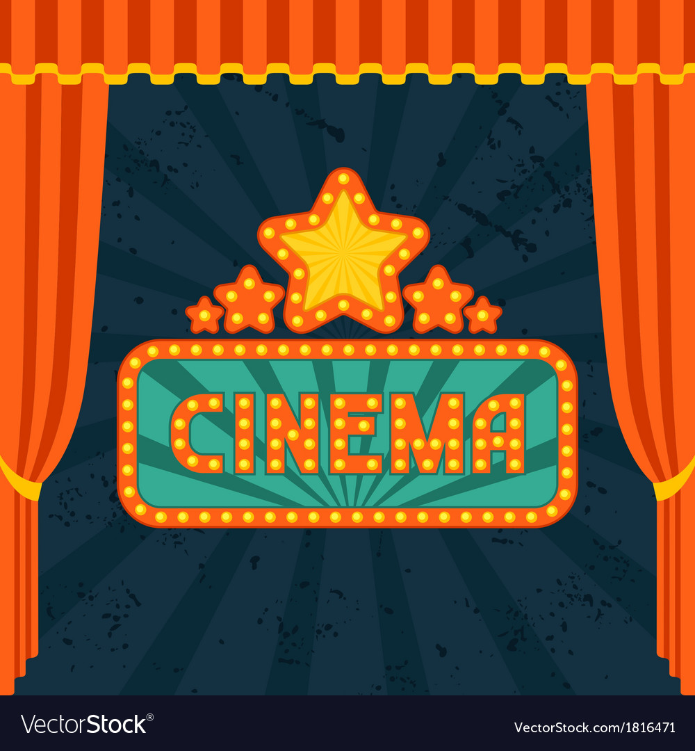 Movie and cinema retro background vector | Price: 1 Credit (USD $1)