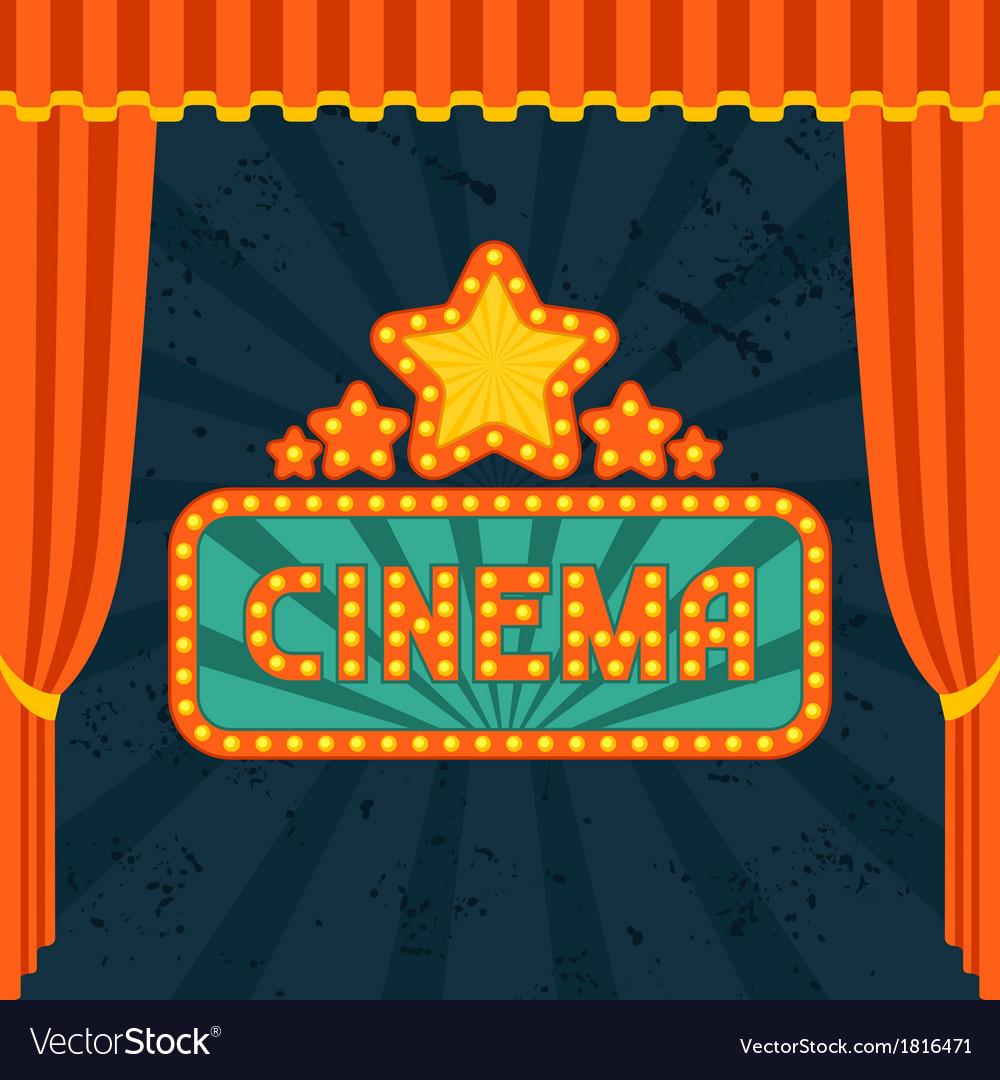 Movie and cinema retro background vector | Price: 1 Credit (USD $1)