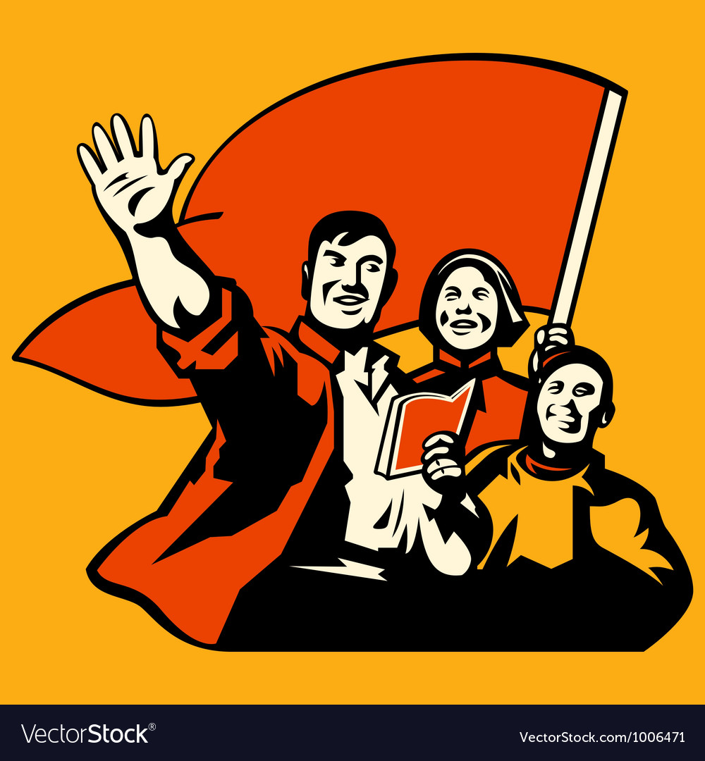 Propaganda poster vector | Price: 1 Credit (USD $1)