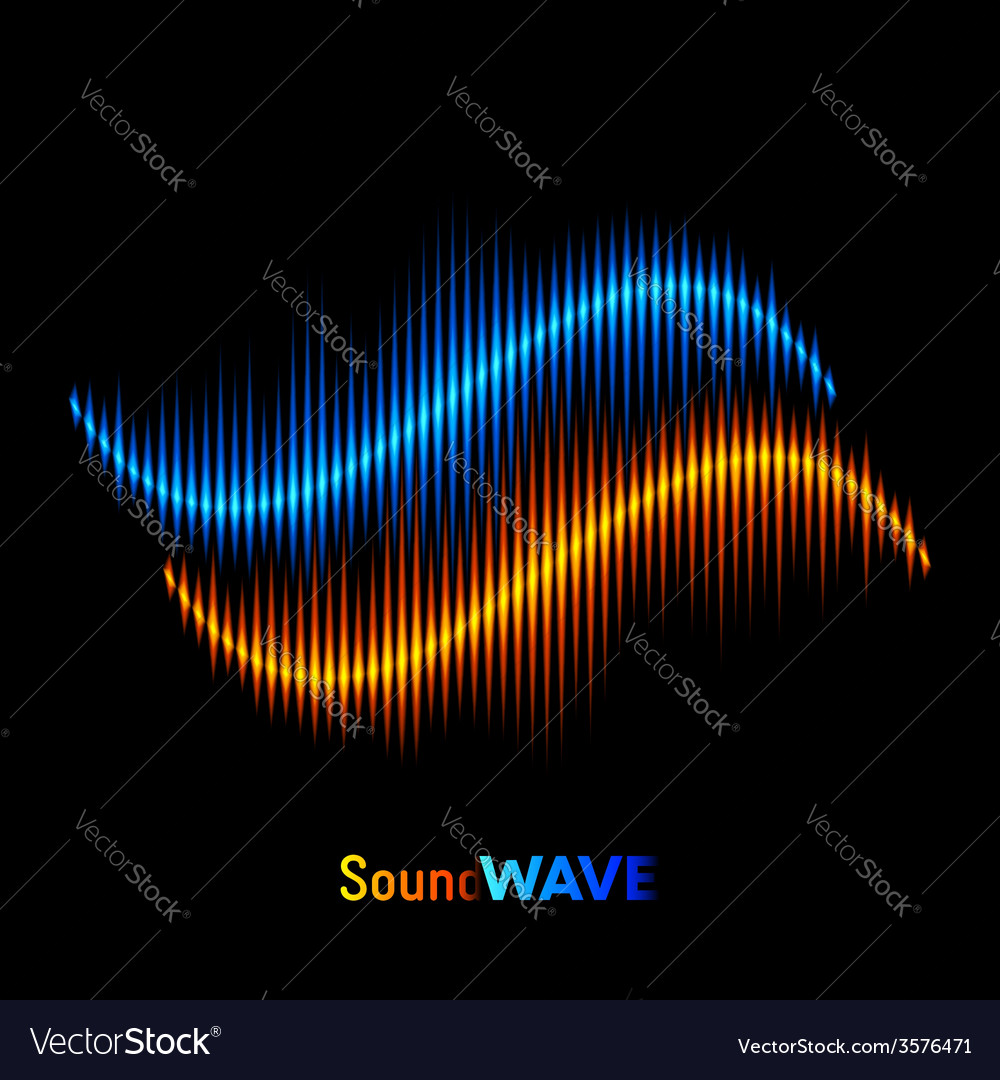 Stereo sound waveform vector | Price: 1 Credit (USD $1)