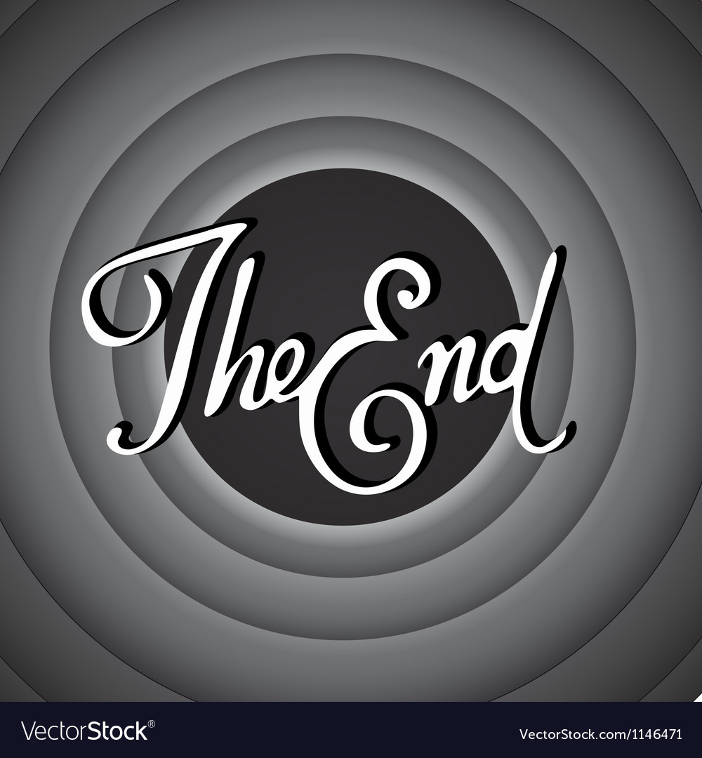 Vintage movie ending screen vector | Price: 1 Credit (USD $1)