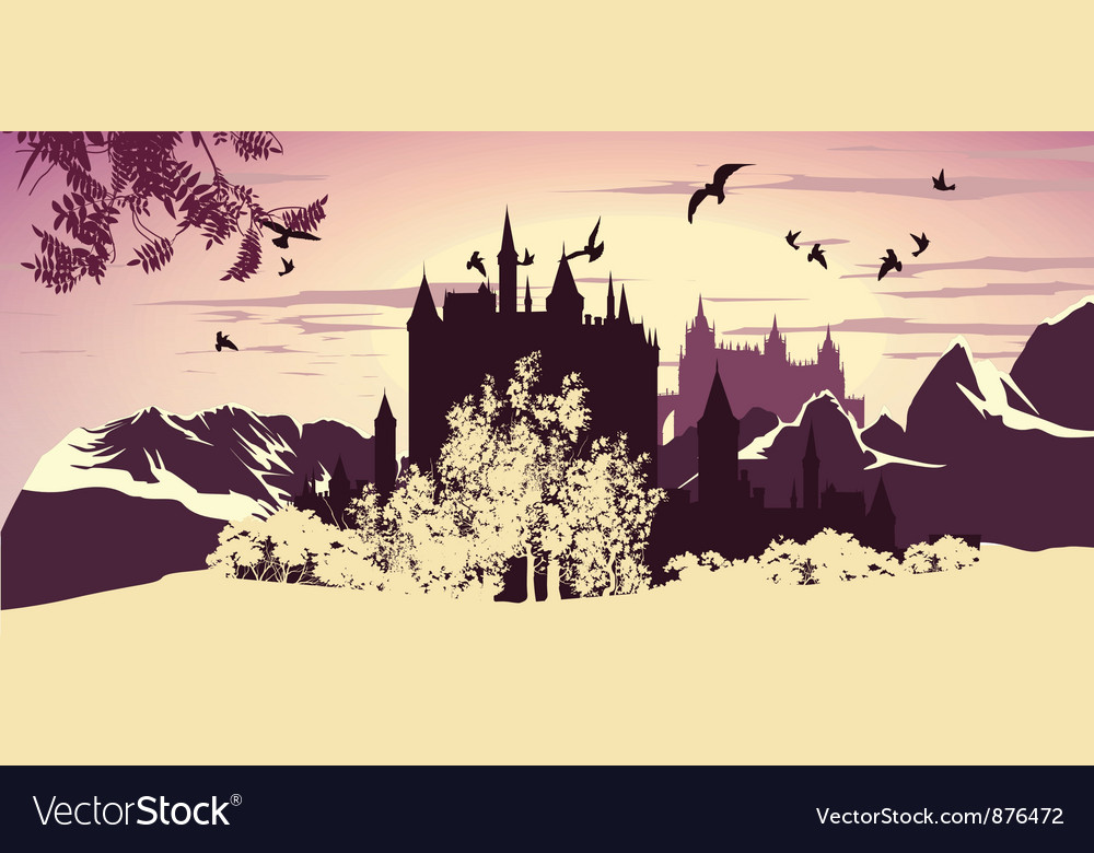 Beautiful ancient castle vector | Price: 1 Credit (USD $1)