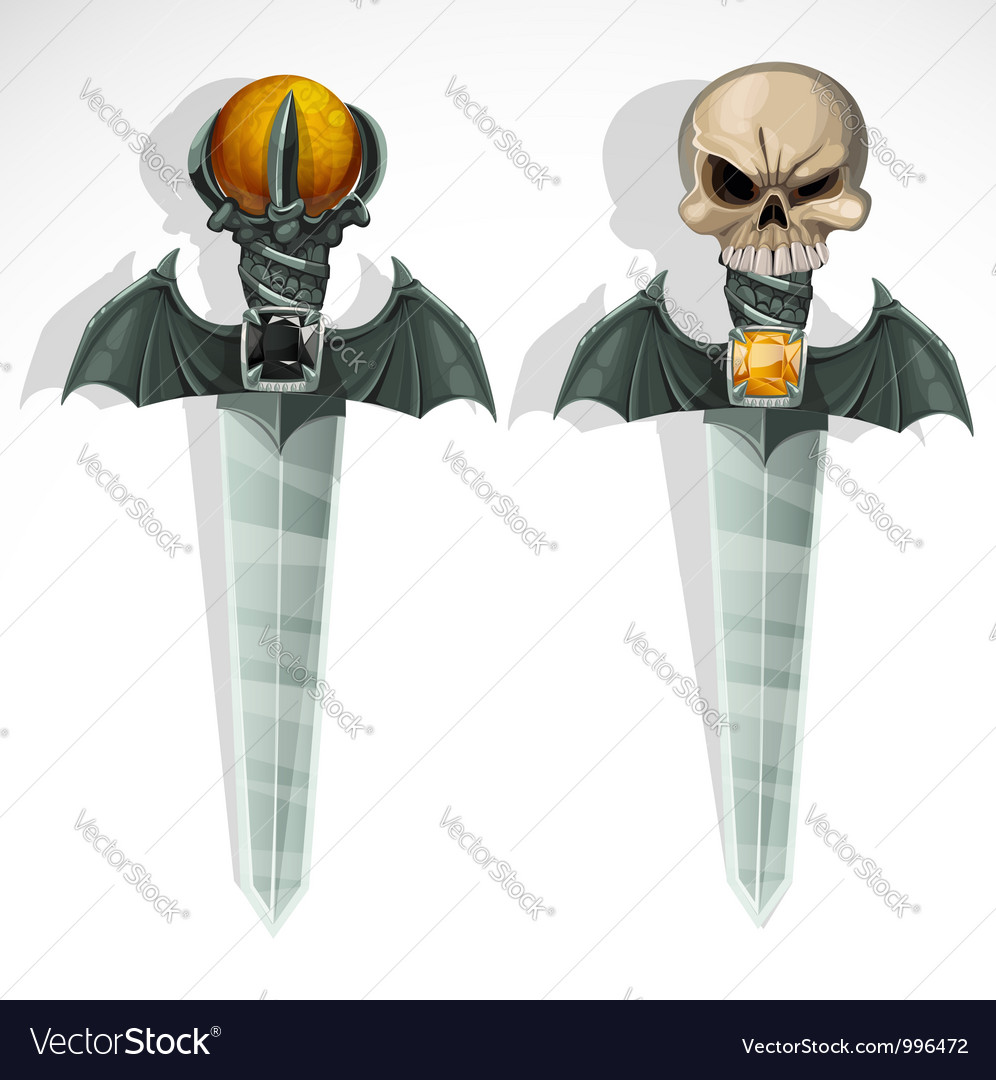 Ghoul ritual sharp daggers vector | Price: 1 Credit (USD $1)