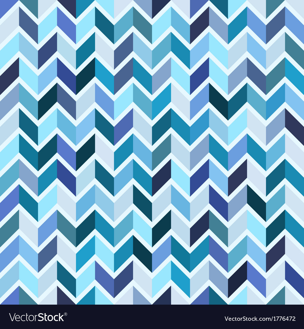 Seamless geometric pattern blue mosaic vector | Price: 1 Credit (USD $1)