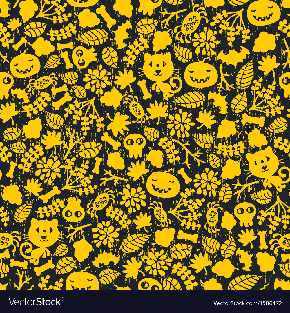 Seamless halloween background with monsters vector | Price: 1 Credit (USD $1)