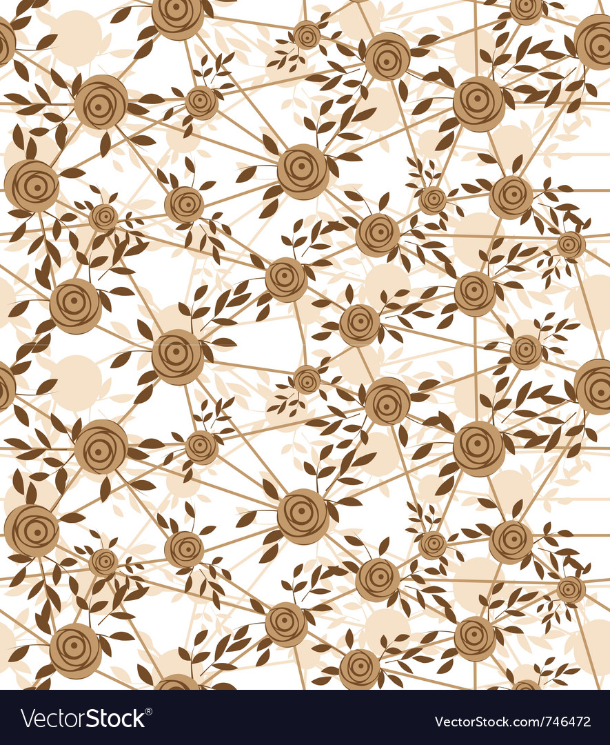 Seamless net flower vector | Price: 1 Credit (USD $1)