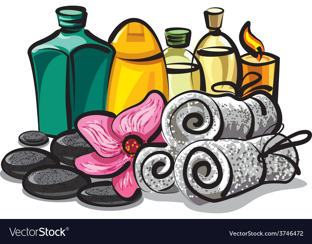 Spa products vector | Price: 3 Credit (USD $3)