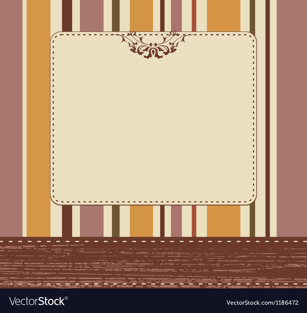 Vintage card background vector | Price: 1 Credit (USD $1)
