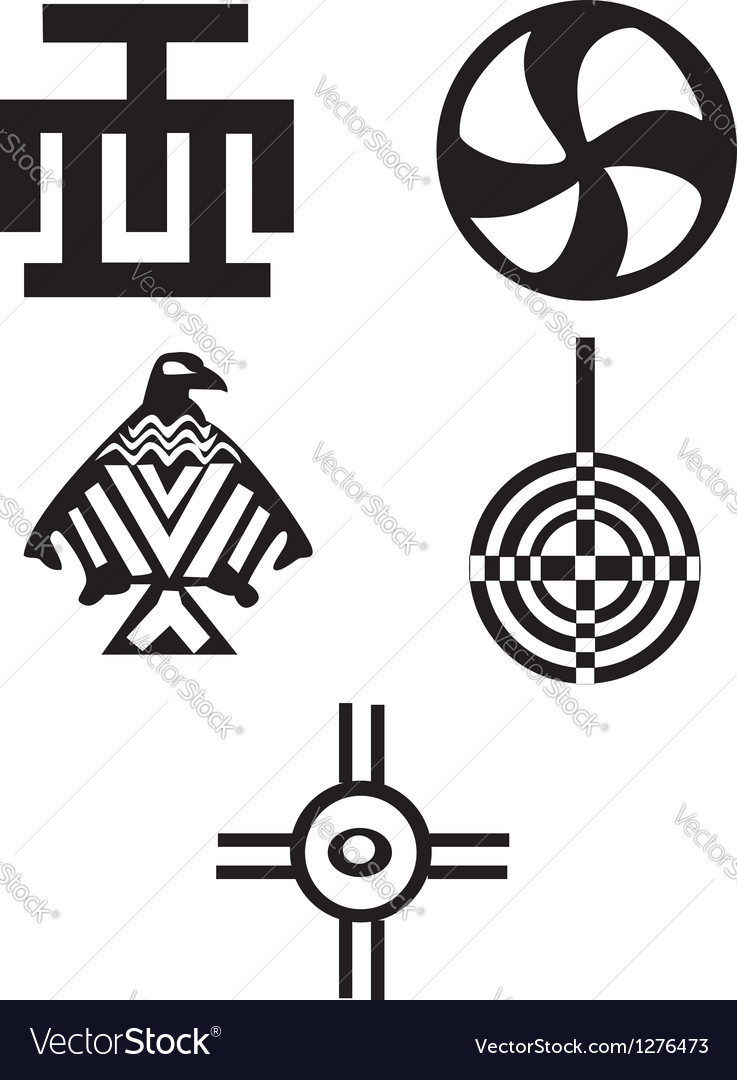 American indian symbols vector | Price: 1 Credit (USD $1)