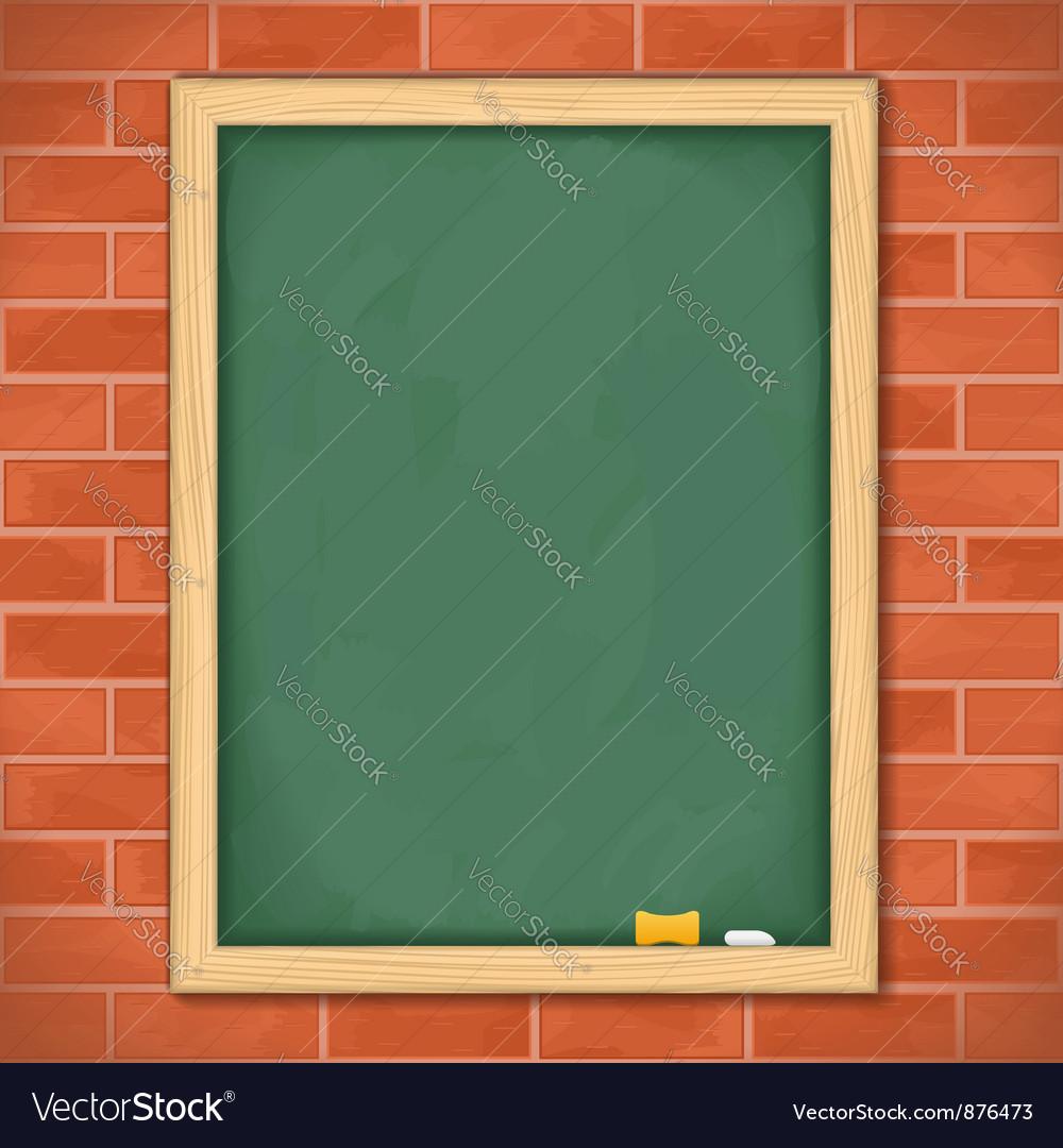 Blackboard on brick wall vector | Price: 1 Credit (USD $1)