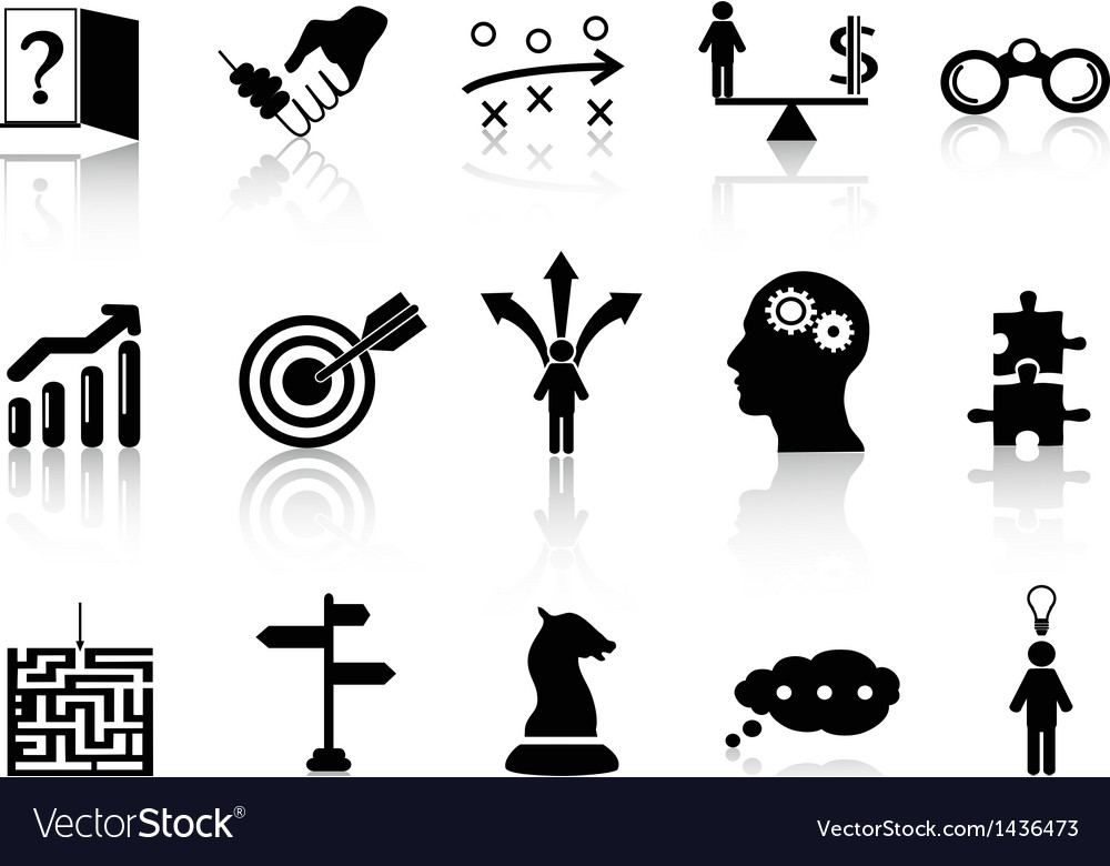 Business strategy icons set vector | Price: 1 Credit (USD $1)
