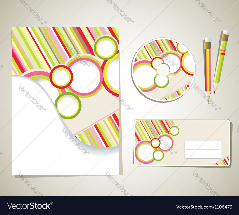 Editable corporate identity template vector | Price: 1 Credit (USD $1)