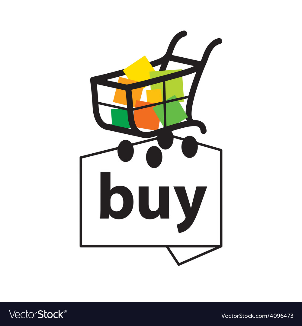Logo basket with goods to buy vector | Price: 1 Credit (USD $1)