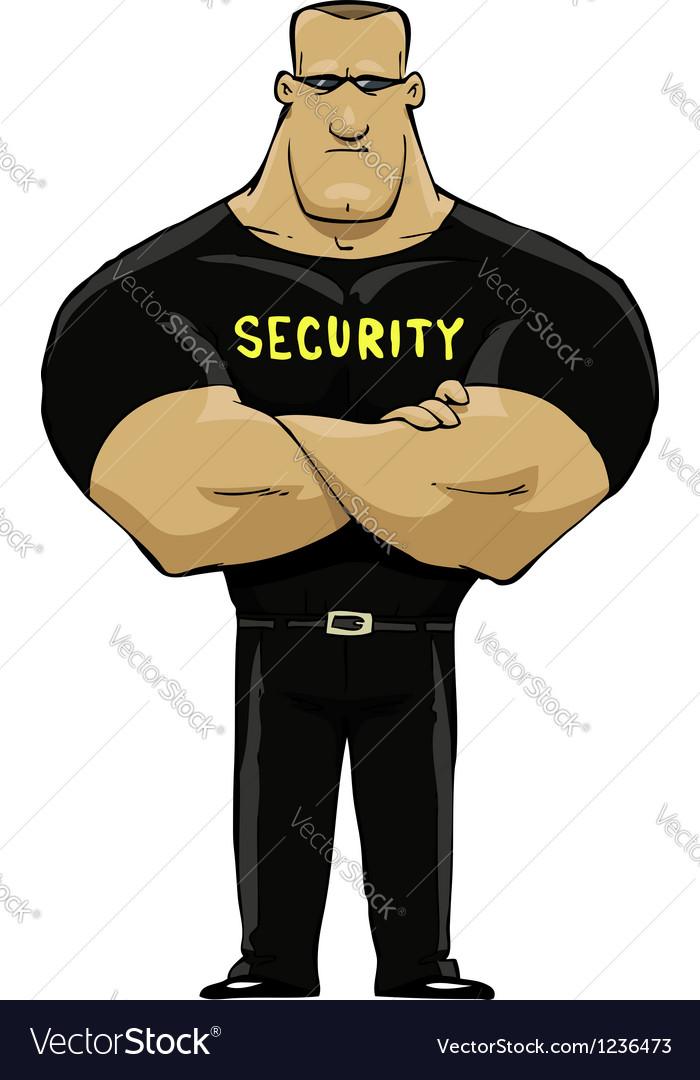 Man security vector | Price: 1 Credit (USD $1)
