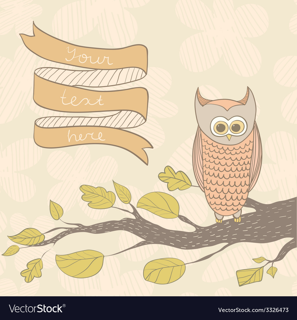 Owlonthetree vector | Price: 1 Credit (USD $1)