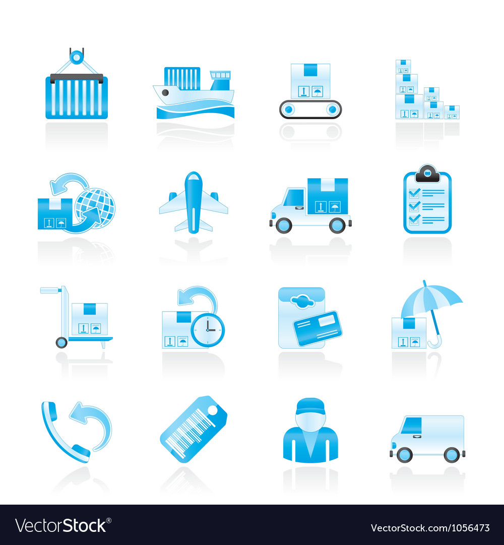 Shipping and delivery icons vector   Price: 1 Credit (USD $1)