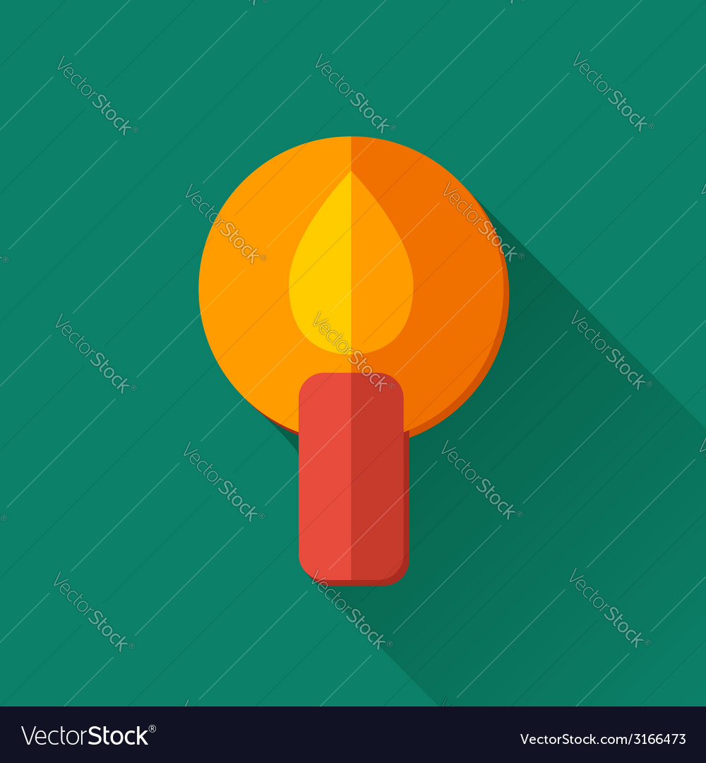 Simple candle icon in flat style vector | Price: 1 Credit (USD $1)