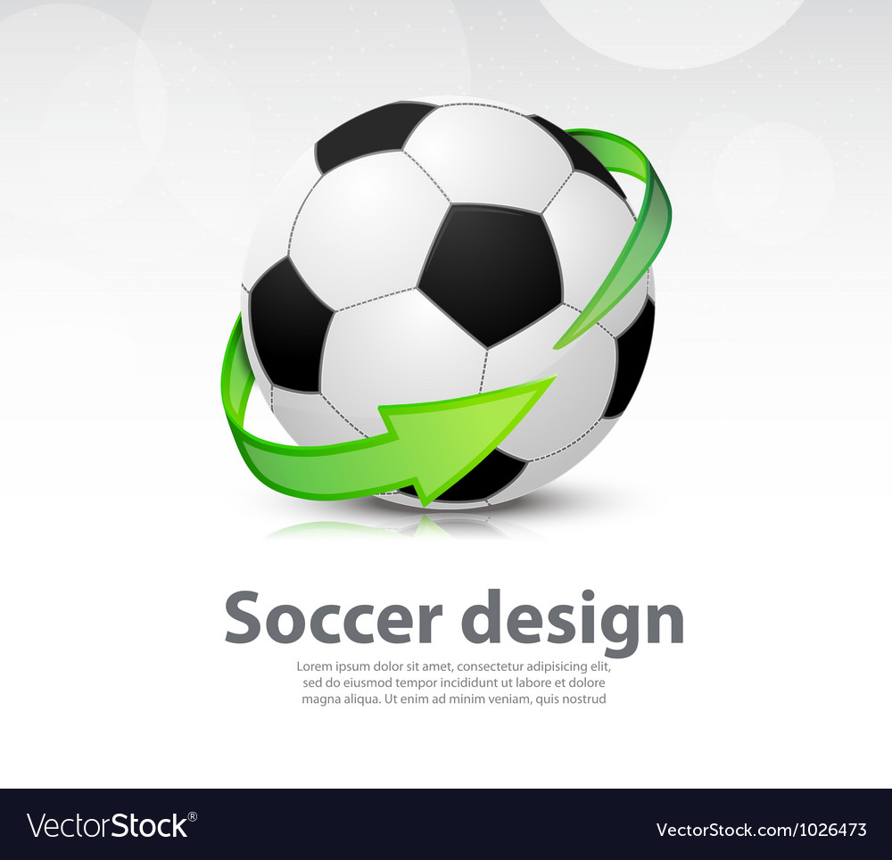 Soccer ball with arrow vector | Price: 1 Credit (USD $1)