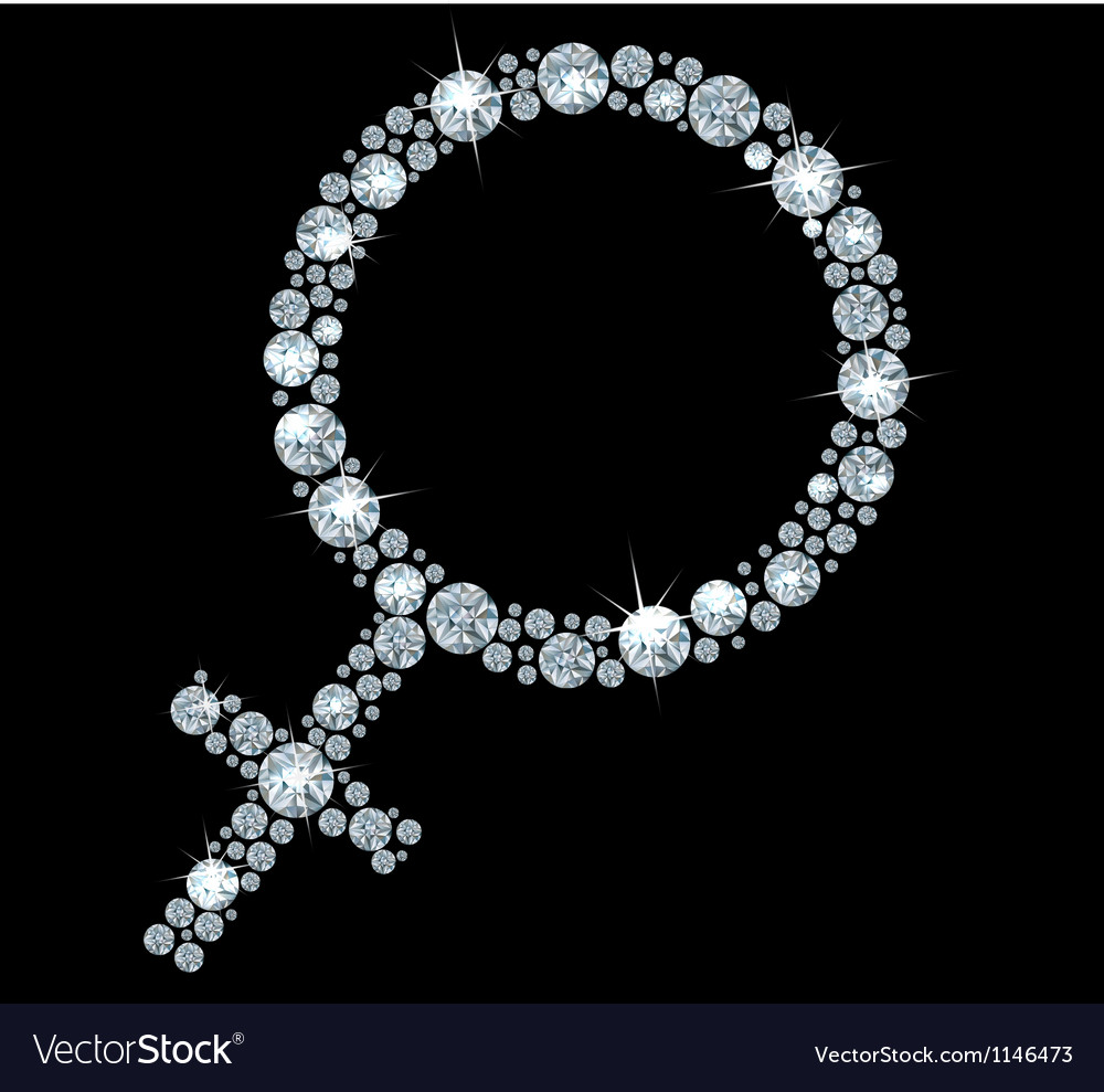 Venus diamonds sign vector | Price: 1 Credit (USD $1)