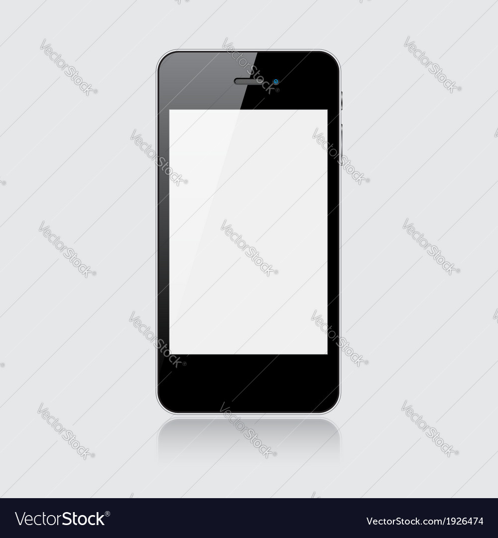 Black smartphone vector | Price: 1 Credit (USD $1)