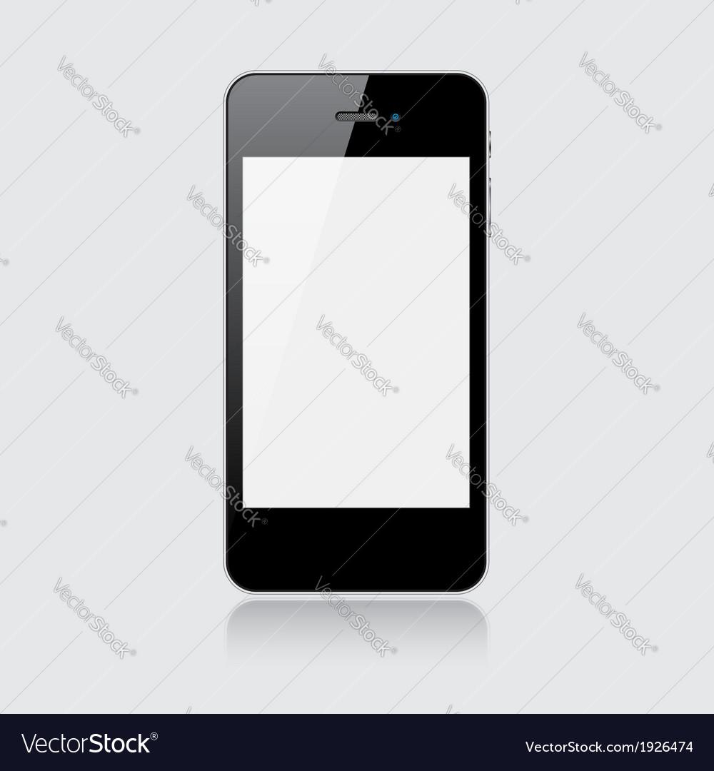 Black smartphone vector | Price: 1 Credit (USD $1)