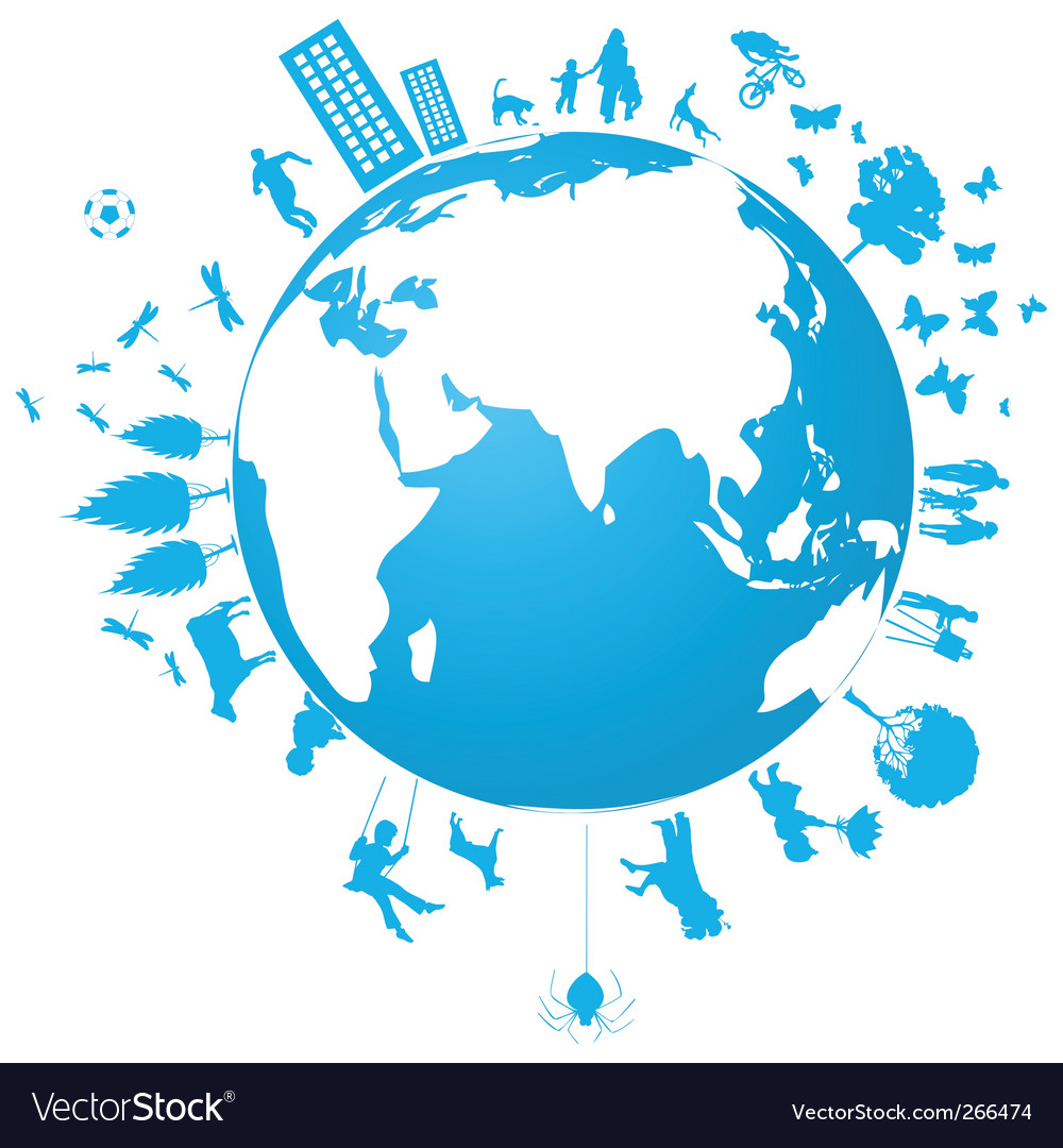 Blue planet vector | Price: 1 Credit (USD $1)