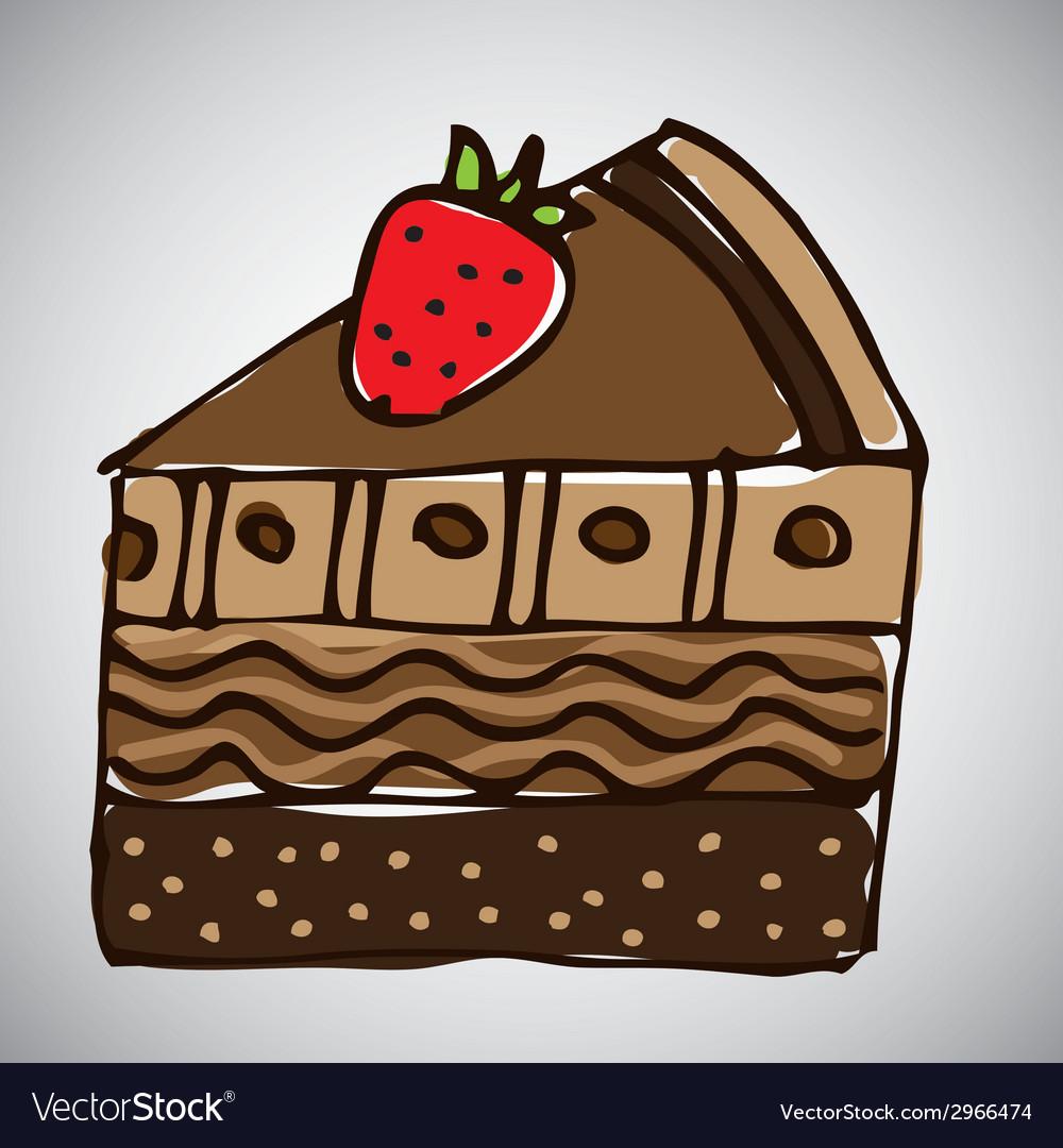 Cake design vector | Price: 1 Credit (USD $1)