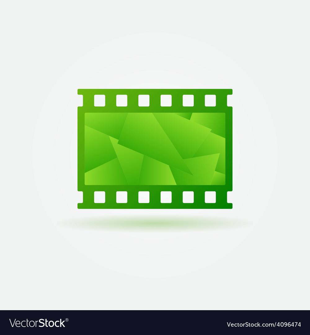 Cinema filmstrip logo template vector | Price: 1 Credit (USD $1)