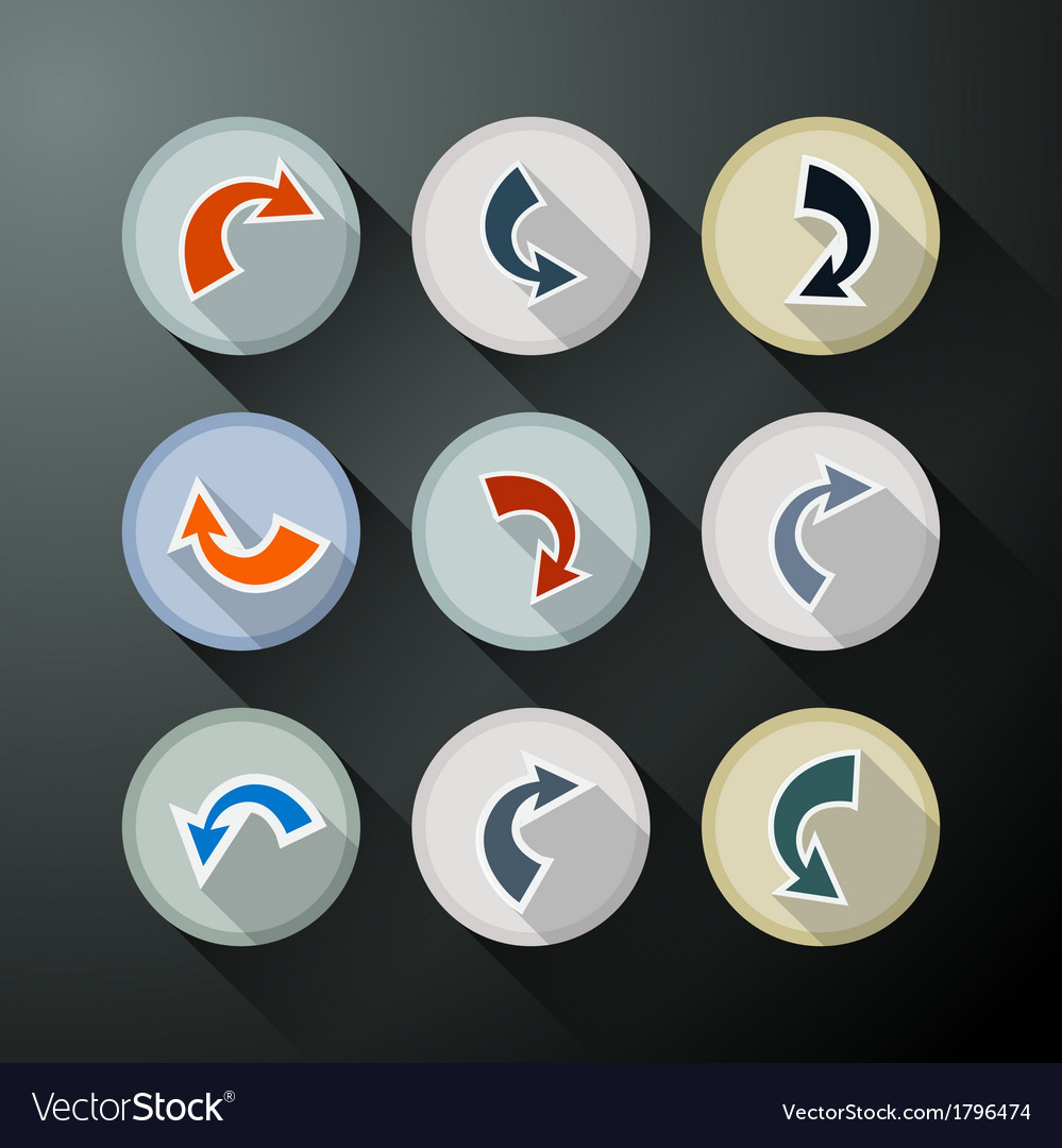 Colorful abstract arrows set vector   Price: 1 Credit (USD $1)