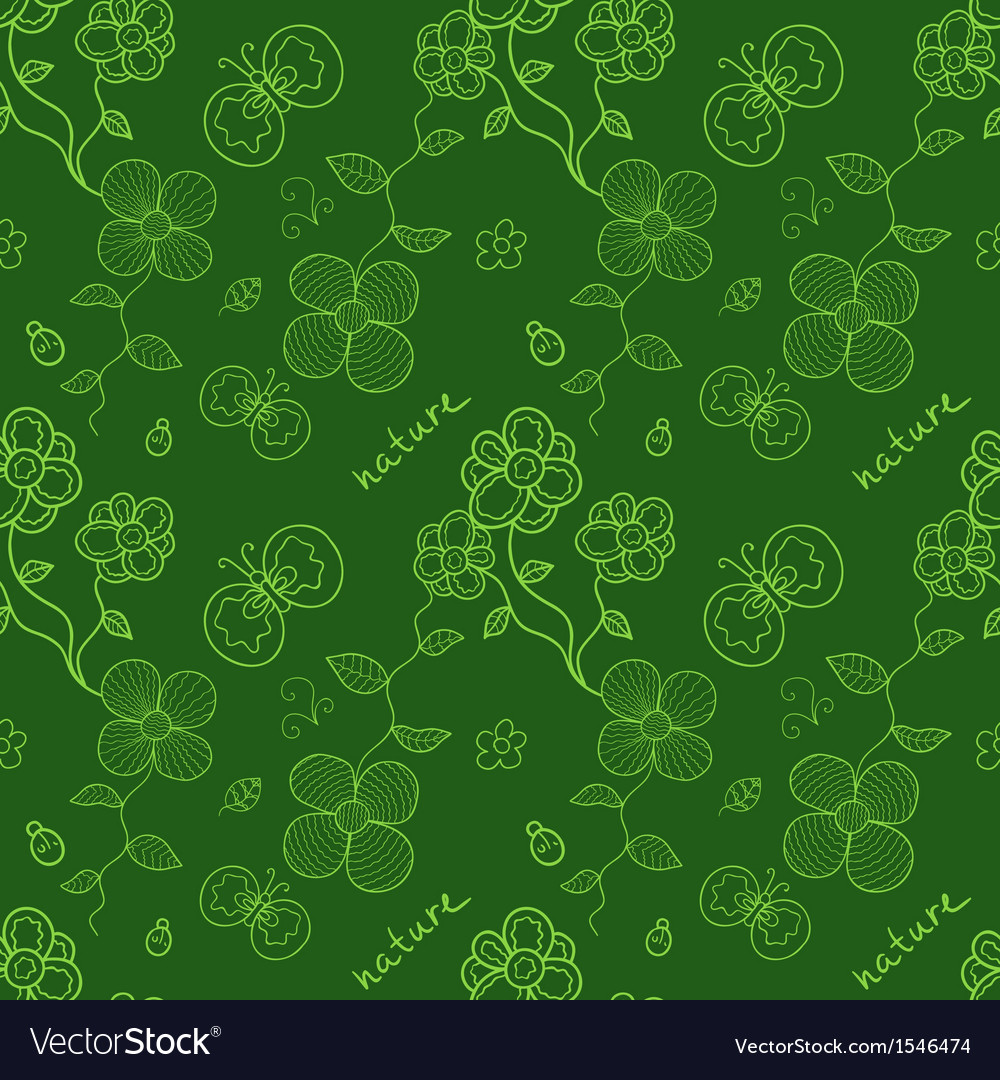 Colorful green seamless pattern with stylized vector | Price: 1 Credit (USD $1)