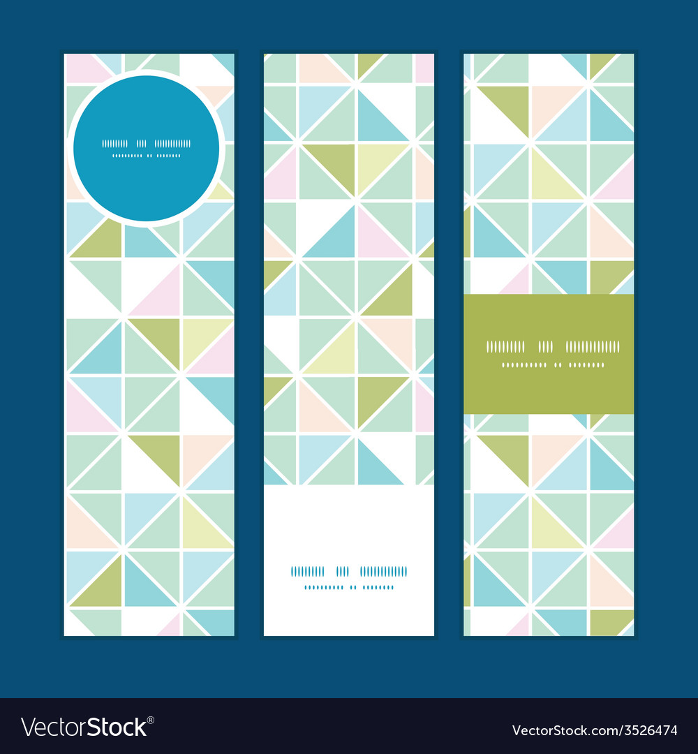 Colorful pastel triangle texture vertical banners vector | Price: 1 Credit (USD $1)