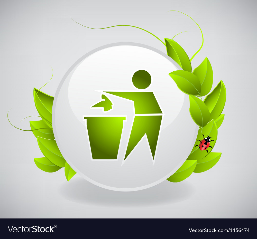 Environmental label vector | Price: 1 Credit (USD $1)