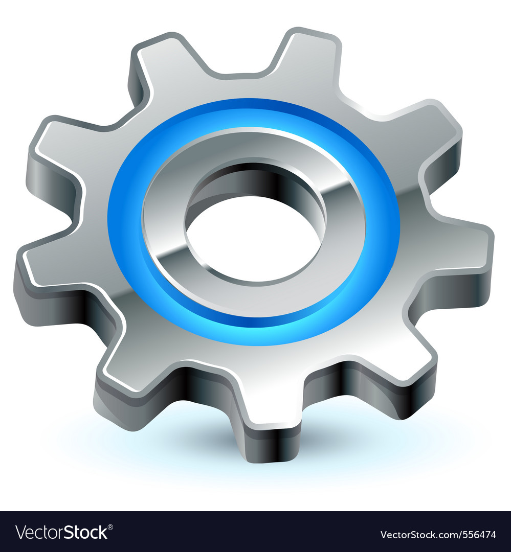 Gear settings icon vector | Price: 1 Credit (USD $1)