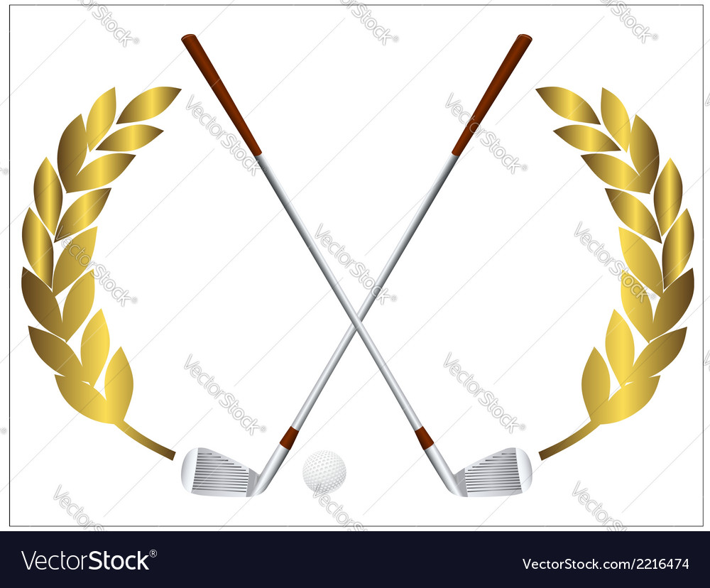 Golf clubs vector | Price: 1 Credit (USD $1)