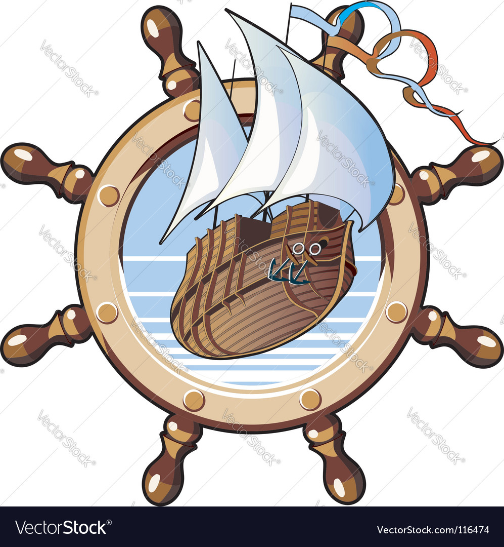 Ship amp wheel vector | Price: 1 Credit (USD $1)