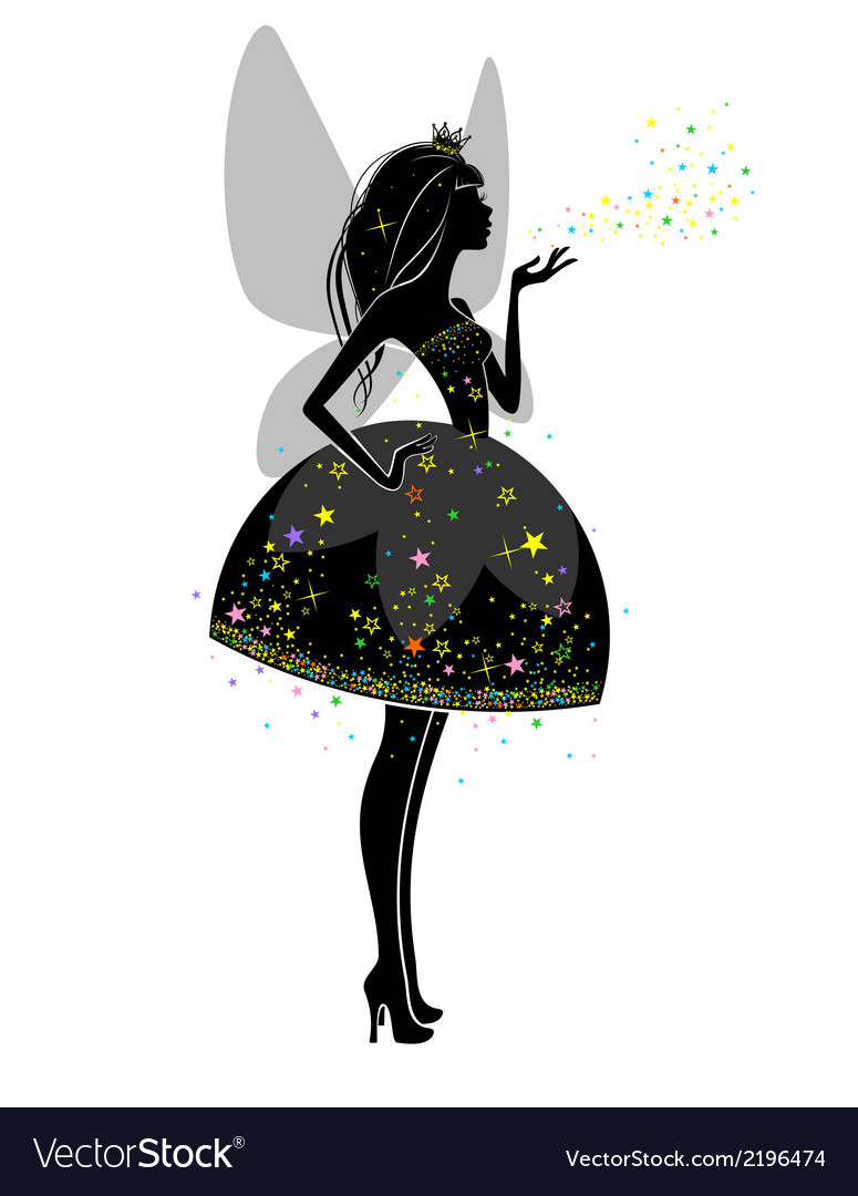 Silhouette of a beautiful princess vector | Price: 1 Credit (USD $1)