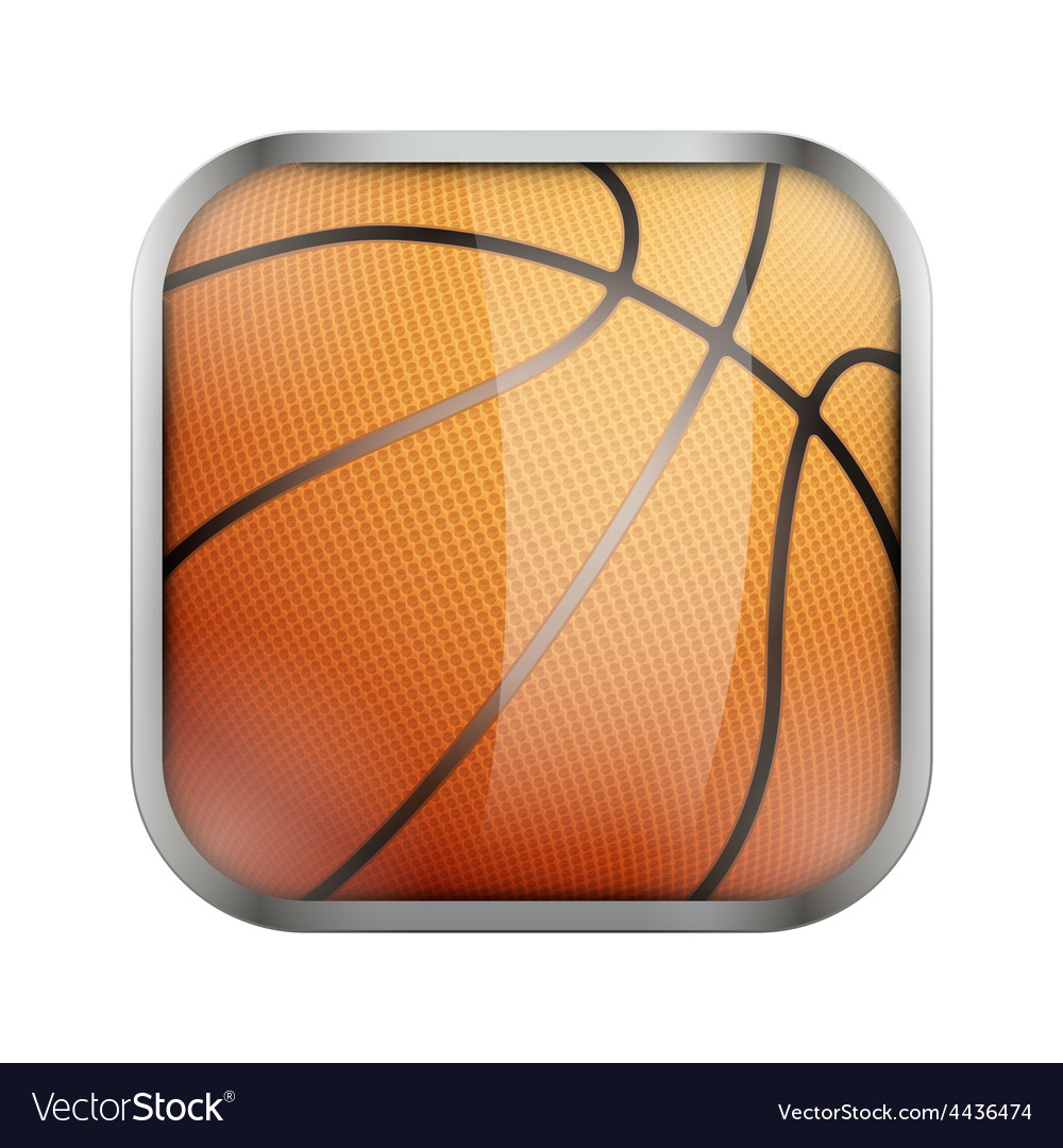 Square icon for basketball app or games vector | Price: 1 Credit (USD $1)