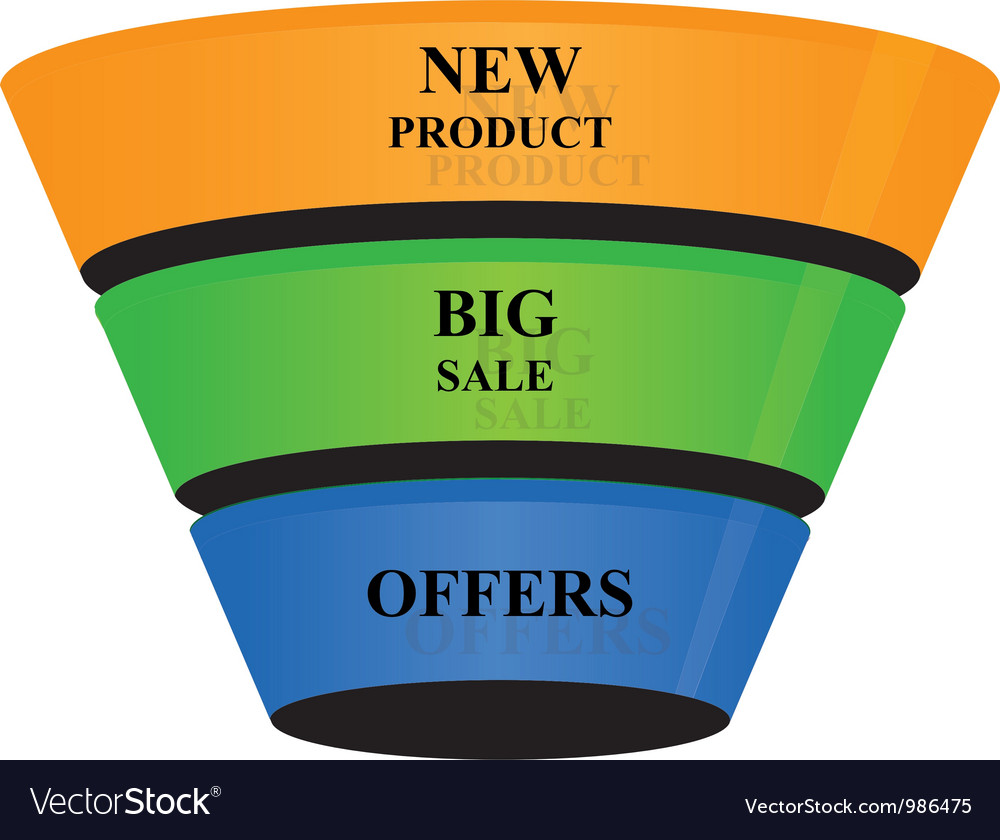 3d cone shape business growth banner icon vector | Price: 1 Credit (USD $1)