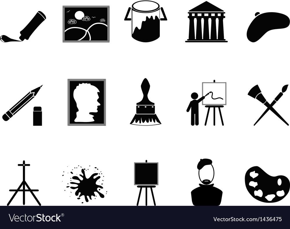 Artist icons set vector | Price: 1 Credit (USD $1)