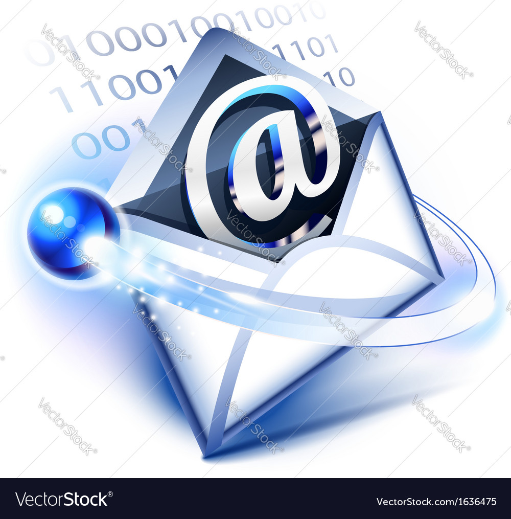 Electronic mail vector | Price: 1 Credit (USD $1)
