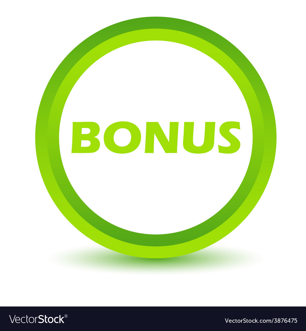 Green bonus icon vector | Price: 1 Credit (USD $1)