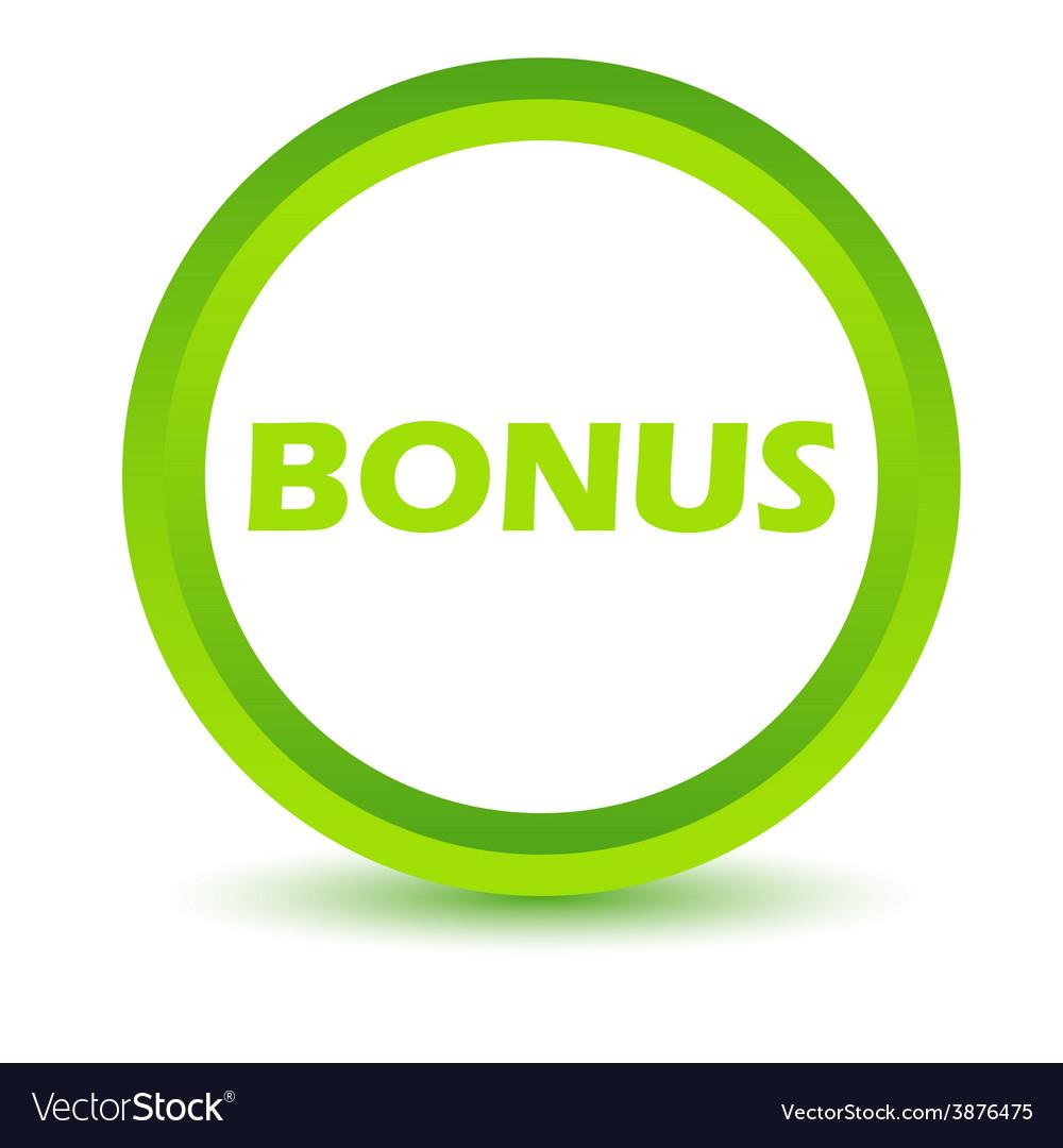 Green bonus icon vector   Price: 1 Credit (USD $1)