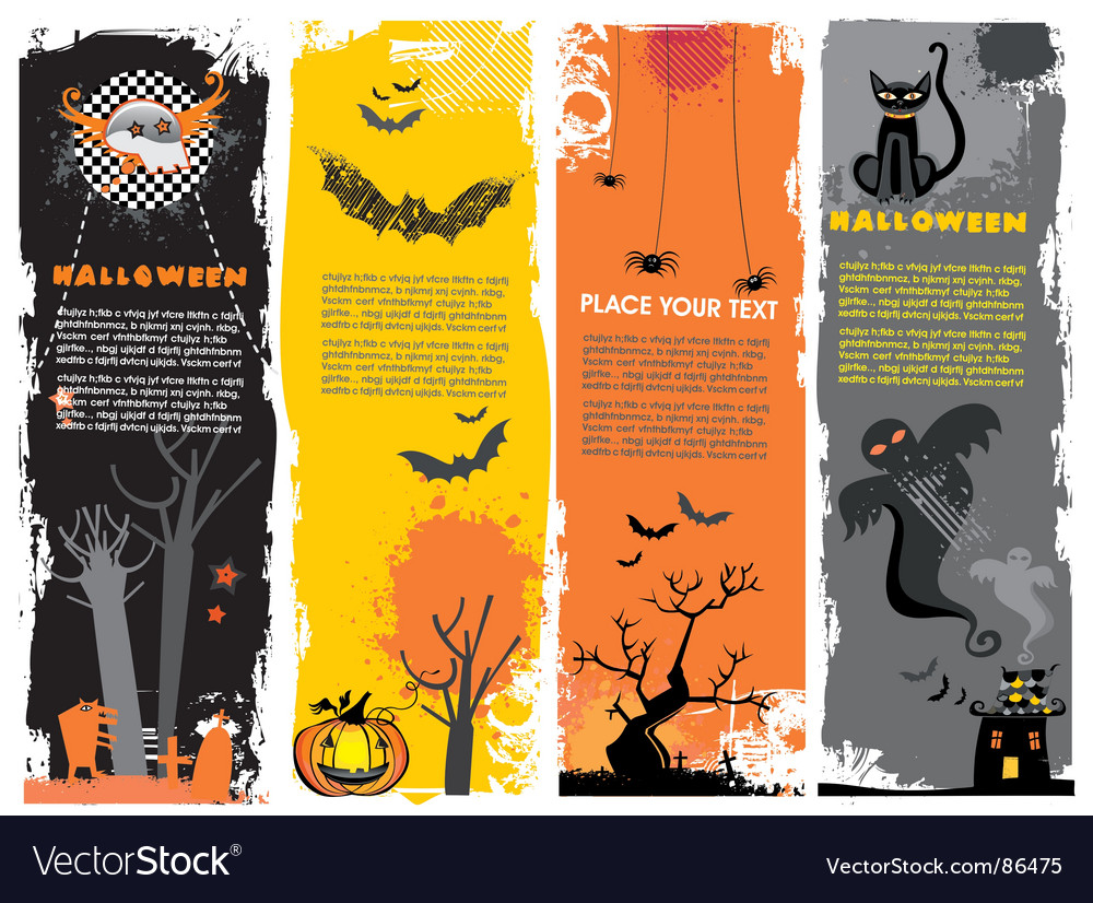 Halloween banners vector | Price: 1 Credit (USD $1)
