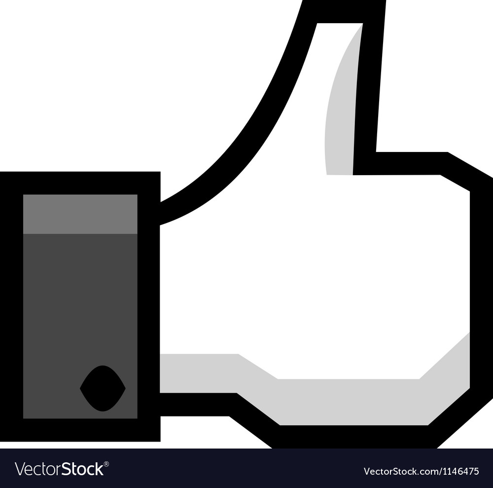Hand with thumb up vector | Price: 1 Credit (USD $1)