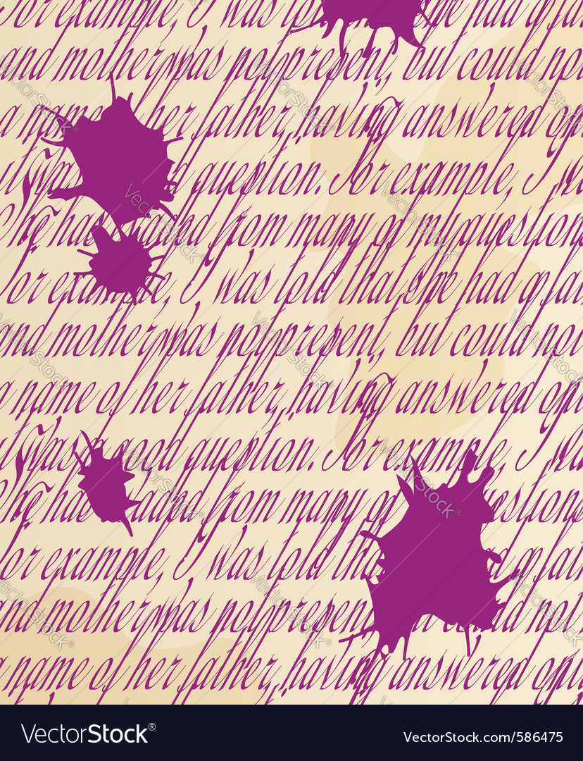 Handwritten text with blots vector | Price: 1 Credit (USD $1)