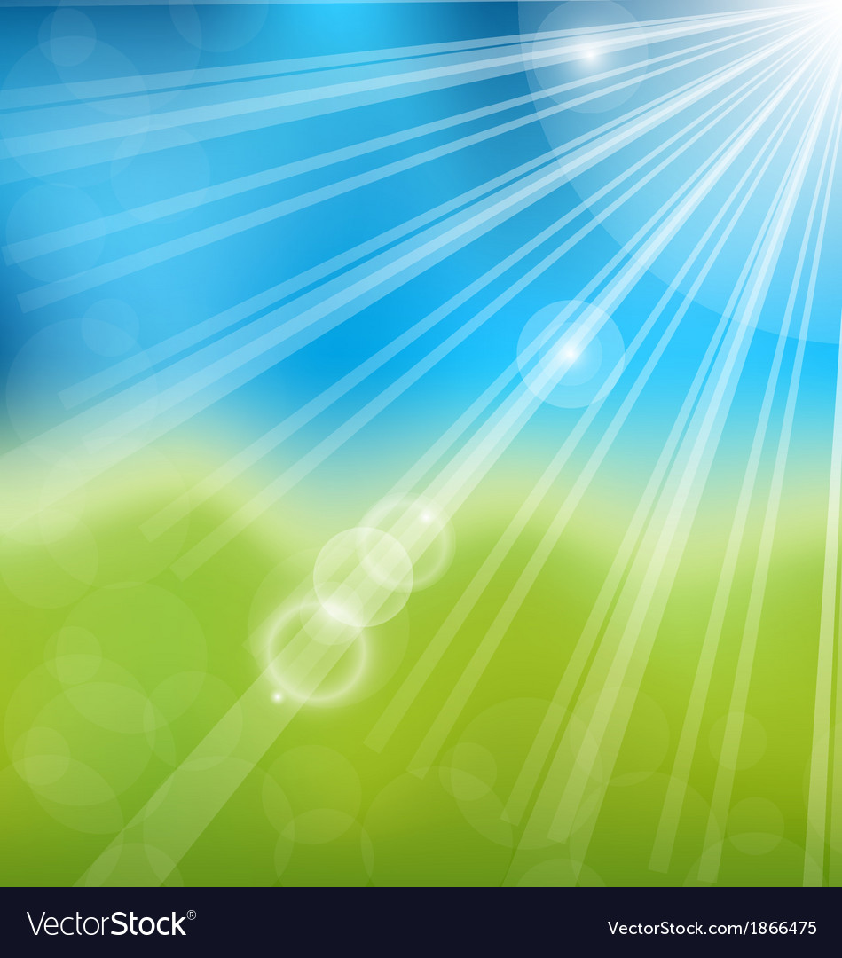 Spring nature background with lens flare vector | Price: 1 Credit (USD $1)