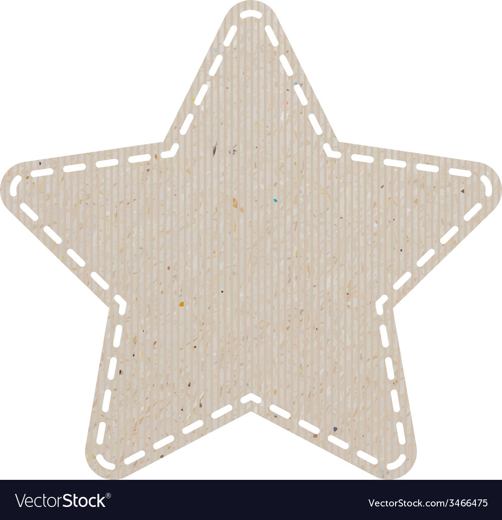Star recycled paper craft on white paper backgroun vector | Price: 1 Credit (USD $1)