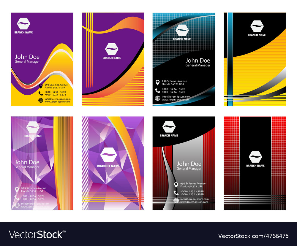 Vertical business card vector   Price: 1 Credit (USD $1)